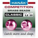 Kulička kovová Brass Beads Classic 20ks Metallic růžová - 2,4mm