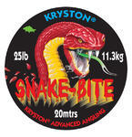 Potahovaná návazcová šňůrka Kryston Snake Bite Weed Green 20m 25lb (11,4kg)