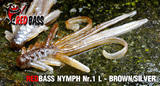 Nymfa RedBass L 80mm - Brown -Silver