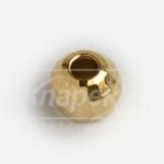 Kulička wolframová fazetovaná 10ks zlatá- 3,0mm