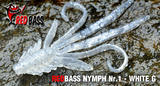 Nymfa RedBass S 53mm - White G