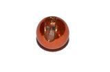 Kulička wolframová hladká s drážkou Lucent 10ks Oranžová - 5,5mm