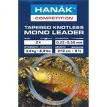 Ujímaný splétaný návazec Hanák Tapered Knotless Mono Leader 270cm 4X - 0,17-0,53mm - čirý