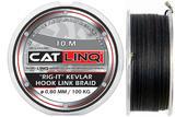 Návazcová šňůrka na sumce  Cat Linq 10m 0,80mm 100kg - šedá