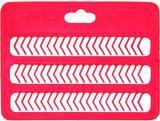 Zarážky na boilies Carp System  karta - červená