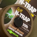 Potahovaná šňůrka Korda N-Trap Soft Gravel Brown 20m 20lb 9,1kg