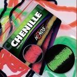 Chenille 2mm CH2207 - zelená fluo