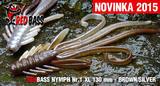 Nymfa RedBass XL 130mm - Brown-Silver