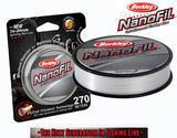Nanofil Berkley 270m 0,25mm 17,027kg - Průhledný