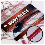 Body Glass Half Round 36 - vínově červená