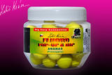 Fluoro Pop-up Boilie LK Baits 90g 14mm - Pineapple + dip