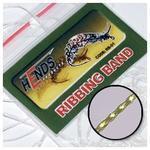 Pletená lameta Ribbing band RB34 - tmavá olivová