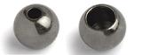Kulička kovová Bead Head 20ks Černý nikl - 4,0mm