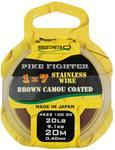 Lanko na dravce SPRO Pike Fighter 1x7 Brown Camou Coated 20m 0.40mm 9,1Kg