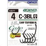 Háček bez protihrotu Owner  C-3BL Carp Tsuyoshi BL vel.4