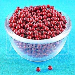 Plastové kuličky Miracle Beads 3D 50ks Red - 4,0mm