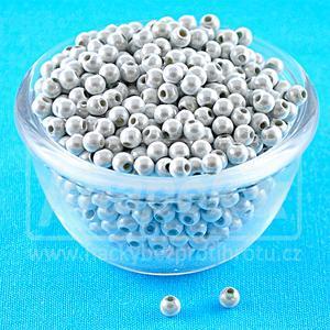 Plastové kuličky Miracle Beads 3D 50ks White - 4,0mm
