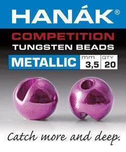 Kulička wolframová metalizovaná 20ks růžová -3,0mm