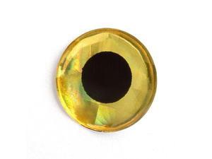 Holografické oči 3D 20ks Zlatá - 12mm