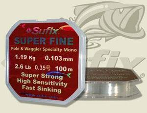 Vlasec Sufix Super Fine 0,103mm 1,19kg 100m