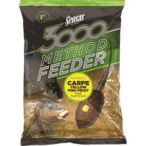 Krmení Sensas 3000 Method Feeder 1kg - Carpe Yellow - 1