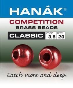 Kulička kovová Brass Beads Classic 20ks Metallic Červená - 2,4mm