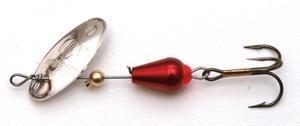 Rotační třpytka MEPPS XD Platium stříbrná-červené tělo 0 - 1