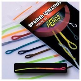 Muškařské rychlospojky Hends - Braided conectors 14 - fluo trikolora