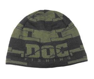 Zimní čepice DOC Cube - khaki logo