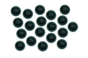 Plastový korálek CarpSystem 20ks 6mm - černý