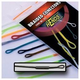 Muškařské rychlospojky Hends - Braided conectors 10 - černá