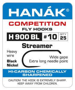 Háčky Streamer bez protihrotu Hanák H 900 BL 25ks - 10
