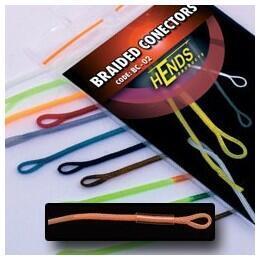 Muškařské rychlospojky Hends - Braided conectors 03 - fluo oranžová