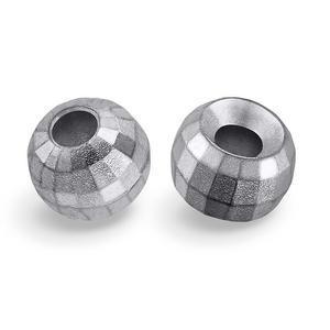 Kulička wolframová fazetovaná 10ks stříbrná- 2,5mm - 1