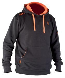 Mikina s kapucí Fox Black & Orange Hoody S - 1