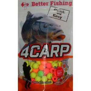 Fluoro Pop-Up boilie 4Carp 30g barevný mix 12mm - Jahoda - 1