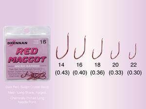 Háčky Drennan Red Maggot