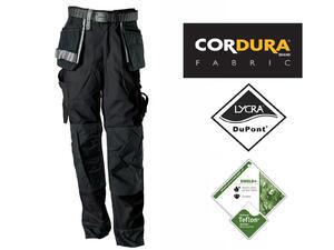 Pracovní kalhoty GWT s kapsami černé - L - 1