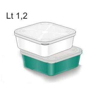 Krabička na nástrahy Stonfo s víčkem 1,2l - zelená - 1