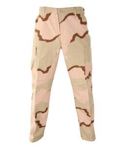 Kalhoty BDU Tri-Color Desert Camouflage - Large Long