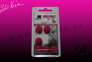 Pěnové boilies ZIG RIG Pop Up LK Baits 14mm - Red