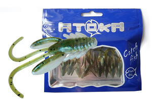 "Nymfy Ice Fish Atoka - 1"" (9ks) - 4 Pearl Olive Shad - 1"