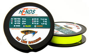 Dacron Backing Hends 100Yds 20Lb (9,1kg) - fluo žlutý