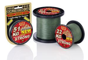 Pletená šňůra WFT NEW  KG Strong - zelená -  0,32mm 51kg