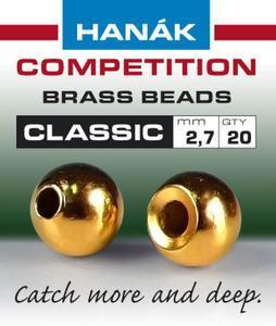 Kulička kovová Brass Beads Classic 20ks Zlatá - 2,7mm