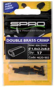 Krimpovací trubičky SPRO MB Double Brass Crimp 17ks 8mm 0,8mm - 1