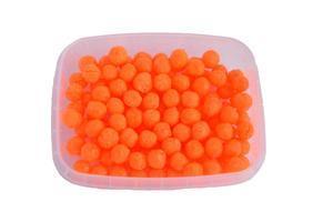Rybtrudy dipované měkčené 25g - fluo oranžová - Játra - Česnek