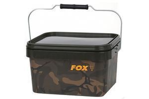 Kbelík s víkem FOX Camo Square bucket 5L - 1