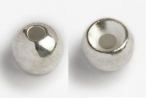 Kulička wolframová hladká Tungsten Head 10ks Stříbrná - 3,5mm - 2