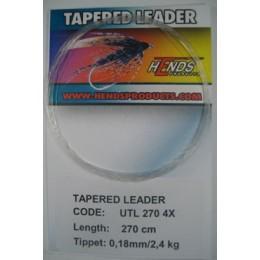 Ujímaný návazec Hends Tapered Leader 270cm 5X - 0,150 mm - 1,8kg - 2